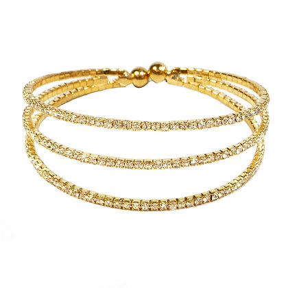 Gold Rhinestone Cuff Bracelets