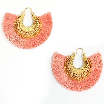 Pink Tassel Earring - TROY 4350