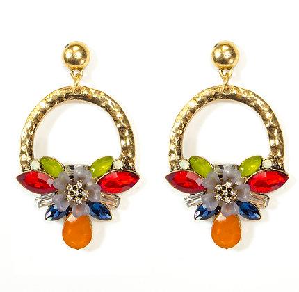 Multi Color Crystal Earring - Model: 445-JFE1036