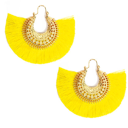 Yellow Tassel Earring - TROY 4350