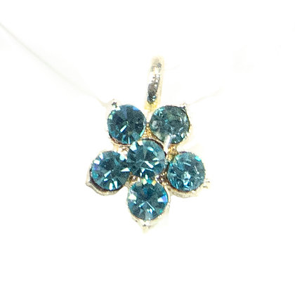 Blue Crystaled Transparent Strap Necklace - TROY 100 BCT