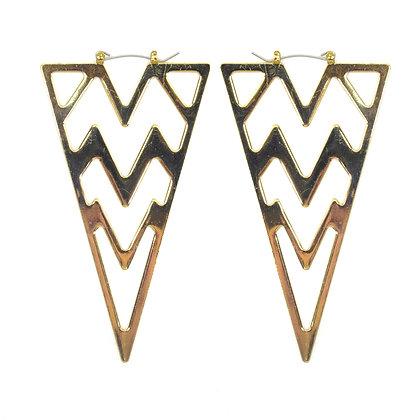 Gold Triangle Earrings - TROY GTE