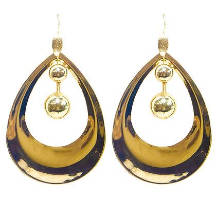 Large Gold Statement Earrings - 406 YE1085