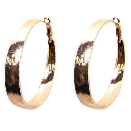 Rose Gold Hoop Earrings - TROY 4193