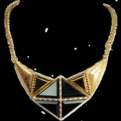 Gold Cubic Necklace Set - Model: 299-HNE1346