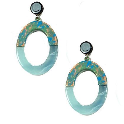 Enamel Oval Earring Model: 19-32065