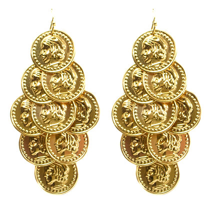 Coin Pendant Earring - TROY 5051