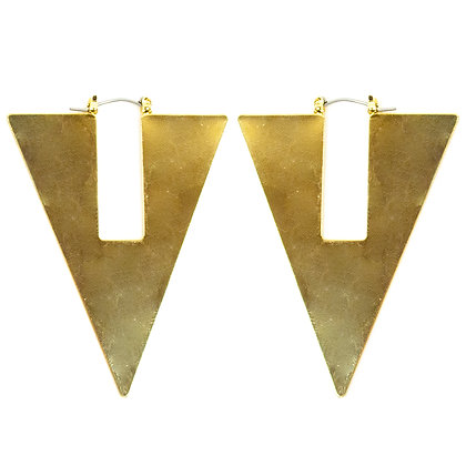 Gold Plate Triangle Earrings - 408 GER6002