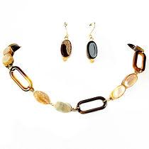 Stone Plastic Necklace Set