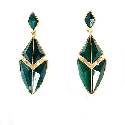 Green Leaf Earrings - Model: 2 SYE7759