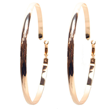 Rose Gold Big Hoop Earrings - TROY 3384
