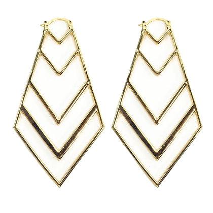 Gold Arrow Head Earrings - 4 YEHJ5359