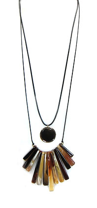 FAN LAYERED NECKLACE: Model:26 ANE8458