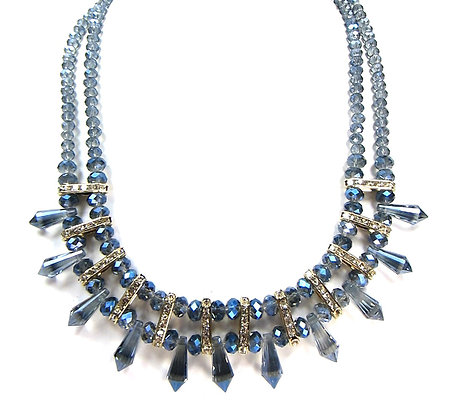 NECKLACE- CRYSTAL BEADS NECKLACE Model:364 PNB1237