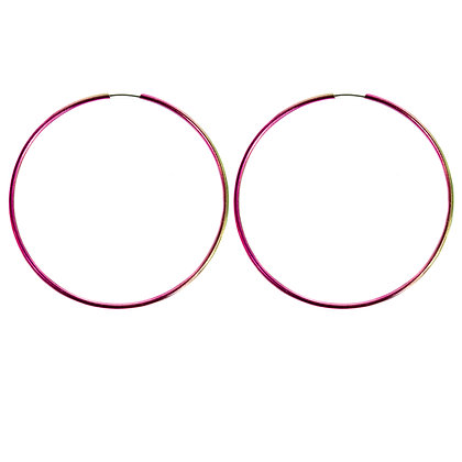 Pink and Green Color Changing Hoop Earrings