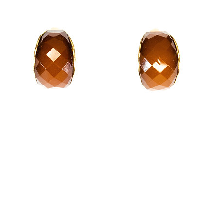 Brown and Gold Earrings - Model: 299 SLE7941