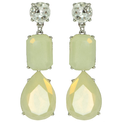 Crystaled Cream White Earrings