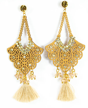 Brown Tassel Earrings - Model: 257 24720