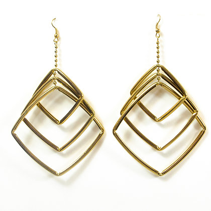 Gold Squares Earring - TROY GSQ