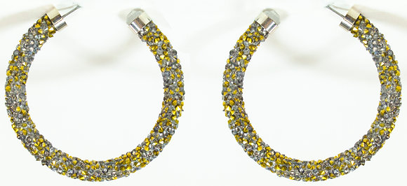 Gold Glittered Earring - Model: 353-E4954