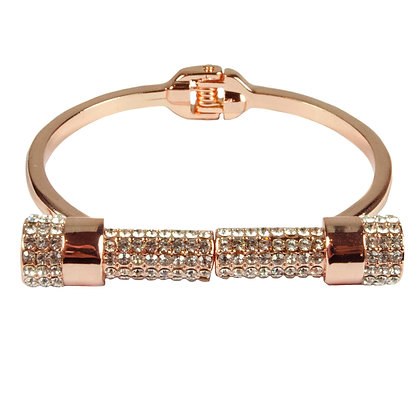 Rose Gold Bracelet with Crystals