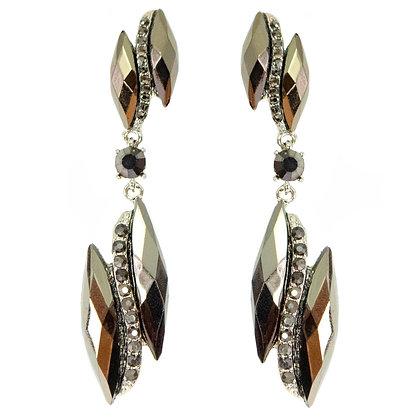 Silver Metallic Earrings