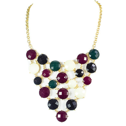 Tri Color Statement Necklace