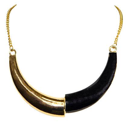 Gold Curves Necklace Set - Model: 414-SB30401