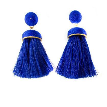 Blue Tassel Earrings - Model: TROY 5217