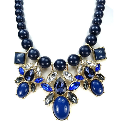NECKLACE-NAVY TEAR DROP NECKLACE Model:2 ZNE30140