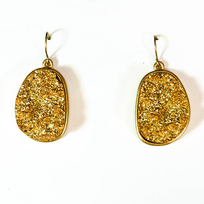 Gold Stone Earrings - Model: 256 H8787