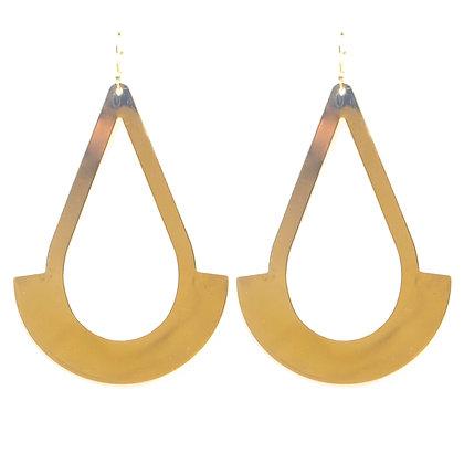 Gold Post Modern Earrings - TROY GPM