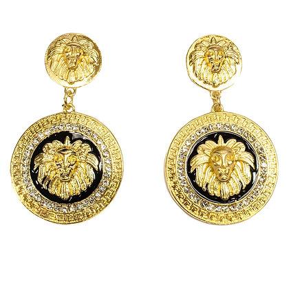 Gold Lion Earrings - Troy 5024