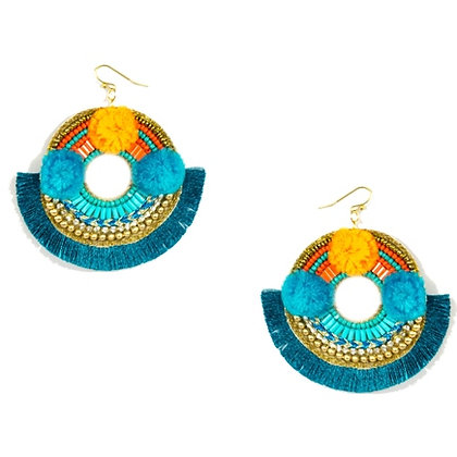 Boho Tassel Fabric Earring Model: 427-EA01423