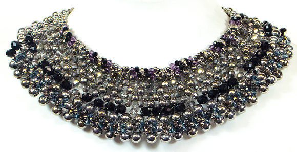 Multi Color Beaded Necklace - Model: 340-N75864