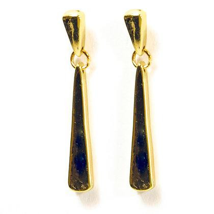 Gold Flat Earrings - 342 SAFW12