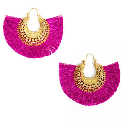 Purple Tassel Earring - TROY 4350