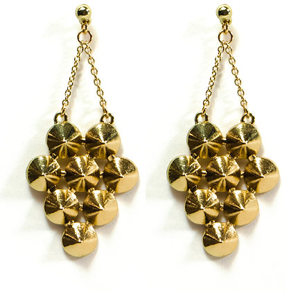 Gold Spiky Earrings - TROY SPK