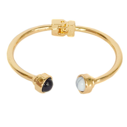 Gold Marble and Black Point Bracelet - ASD 861