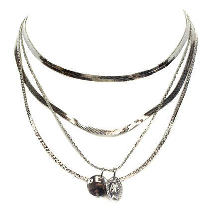 Silver Pendant Necklace - 406 YN1280