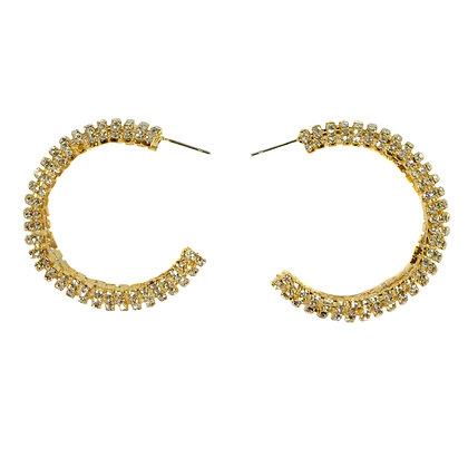 Crystal Gold Hoop Earrings