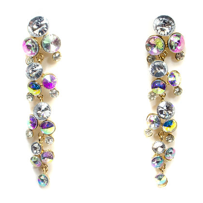 Color Changing Crystaled Drop Earrings - TROY 100 CCCD