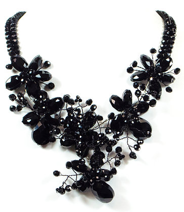 Glossy Floral Necklace - Model: 340-76448