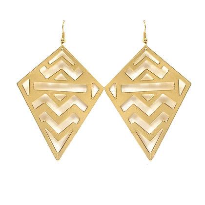 Gold Statement Earrings - TROY 3399