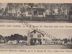 White Oak and London Bridge Cabins - undated