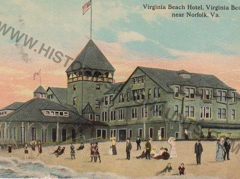 Virginia Beach Hotel - postmark unreadable