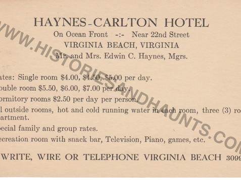 Haynes-Carlton Hotel - undated