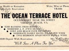The Ocean Terrace Hotel - 1953