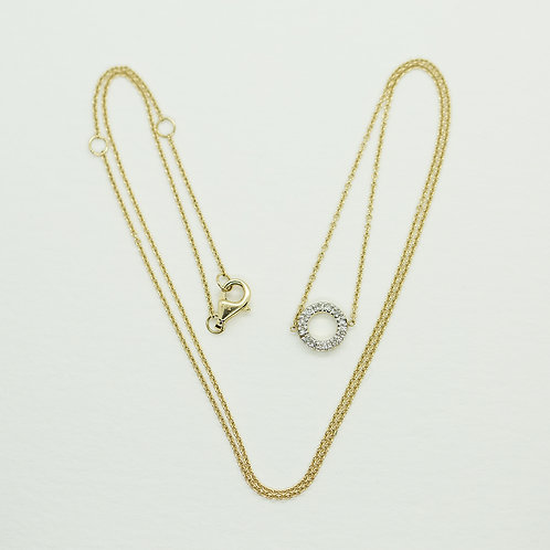 Double Sided Diamond Charm Necklace - SOLD OUT