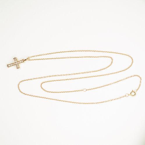 Small Diamond Cross Necklace